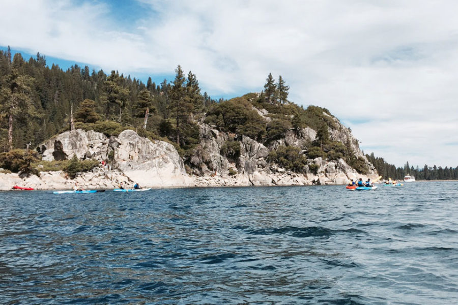 Kayaking Tahoe Blue